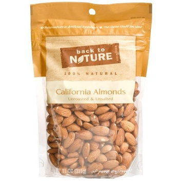 Back To Nature California Almonds, Unroasted & Unsalted, 11-Ounce Pouches (Pack of 3)