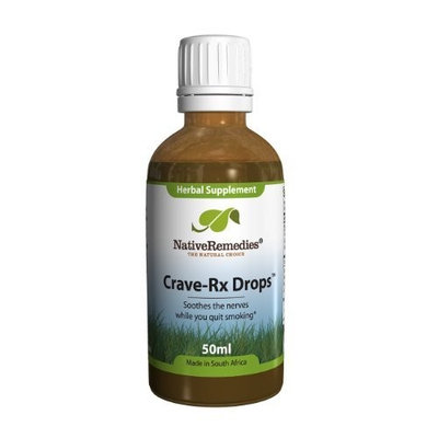 Native Remedies Crave-Rx Drops for Reducing Nicotine Cravings (50ml)