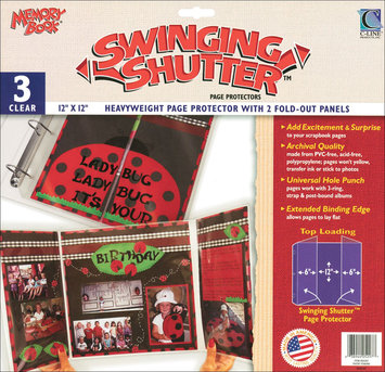 C-line C-Line Memory Book Swinging Shutter Page Protectors, 12