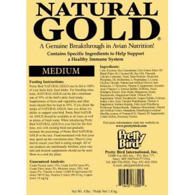Pretty Bird International BPB74309 Natural Gold Pellets Medium