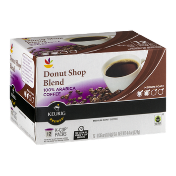 Ahold Donut Shop 100% Arabica Coffee Medium Roast K-Cup Packs - 12 CT