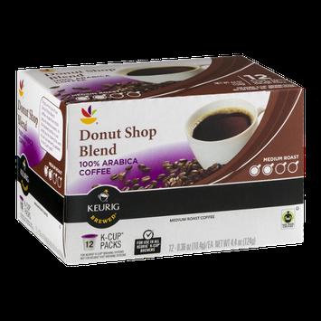 Ahold Donut Shop 100% Arabica Coffee Medium Roast K-Cup Packs - 12 CT