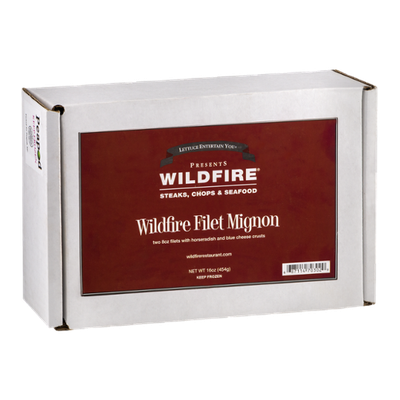 Wildfire Filet Mignon With Horseradish And Blue Cheese Crusts - 2 CT