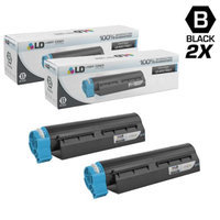 LD Compatible Replacements for Okidata 44574901 2PK High Yield Black Laser Toner Cartridges for use in Okidata MB461 MFP, MB471, MB471W, OKI B411d, B411dn, B431d, and B431dn Printers