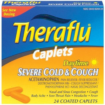 Theraflu Daytime Severe Cold & Cough, 24 Coated Caplets (Pack of 2)