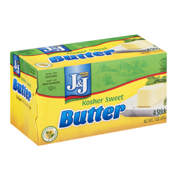 J&J Kosher Sweet Butter Sticks - 4 CT