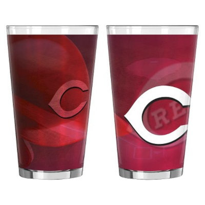 Boelter Brands MLB Reds Set of 2 Shadow Pint Glass - 16oz