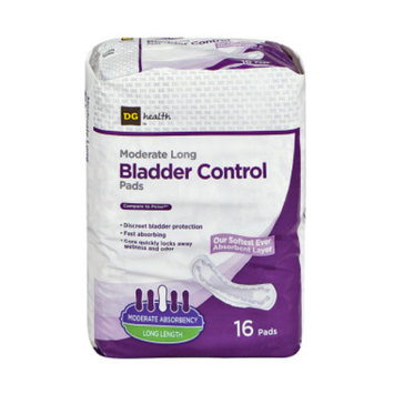 DG Health Bladder Control Pads - Moderate Long - 16 ct