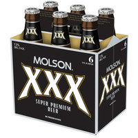 Molson XXX Super Premium Beer, 12 fl oz, 6-Pack