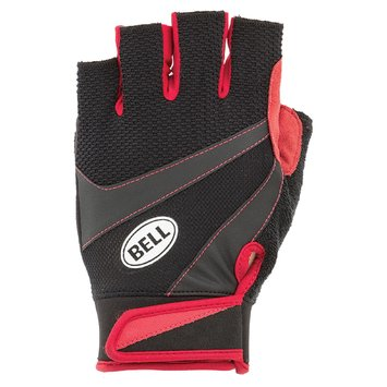 Cycle Products Co. 7025139 Half Finger Gloves Ramble 500, Large/X-large, Black/Red