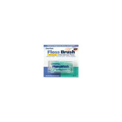 DenTek Floss Brush Interdental Picks, With Fluoride, 30 Each