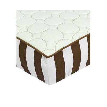 Bacati Green/Chocolate Quilted Changing Pad Cover