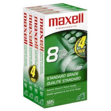 Maxell T160 Standard Grade VHS Videotapes - 4-Pack