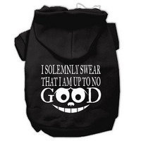 Mirage Pet Products Up to No Good Screen Print Pet Hoodies Black Size Lg (14)