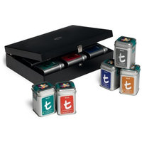 Dilmah Luxury Presenters, 9-Tea Variety Tins in a Wooden Case