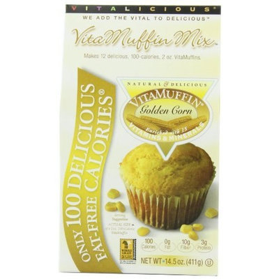 Vitalicious VitaMuffin Mix, Golden Corn, 14.5-Ounce Packages (Pack of 3)