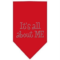 Mirage Pet Products 6782 SMRD Its All About Me Rhinestone Bandana Red Small