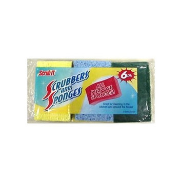 Bulk Savings Cellulose Scrub Sponges Case Pack 30