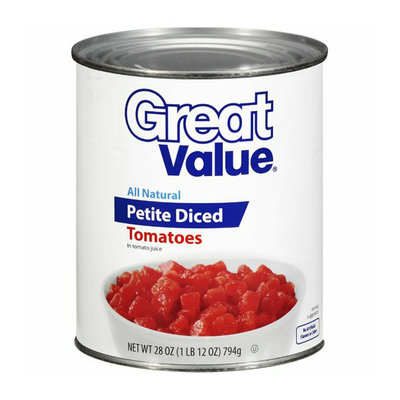 Great Value : Petite Diced Tomatoes