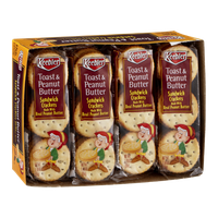 Keebler Toast & Peanut Butter Sandwich Crackers - 8 CT