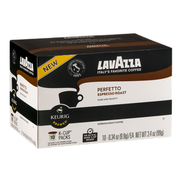 LavAzza Perfetto Espresso Roast Coffee K-Cup Packs - 10 CT