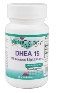 DHEA Micronized Lipid Matrix 15 mg 60 Tabs by Nutricology/ Allergy Research Group