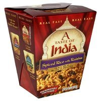 A Taste of India Spiced Rice and Raisins, 6.5-Ounce Microwavable Containers (Pack of 6)