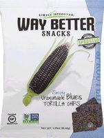 Way Better Snacks Simply Tortilla Chips Unbeatable Blues 1.25 oz