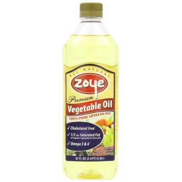 Zoye Premium Low Saturated Fat Vegetable Oil, 32-Ounces