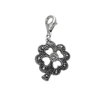 Mac's Marcasite Open Flower Charms