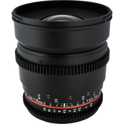 Rokinon 16mm T/2.2 Cine Wide Angle Lens (for Video DSLR Micro Four-Thirds Cameras)