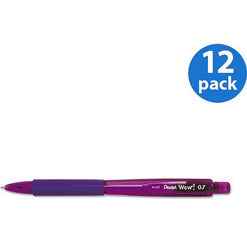 Pentel Of America Pentel PENAL407V Wow! Retractable Tip Mechanical Pencil Pack of 12