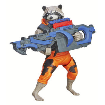 GUARDIANS OF THE GAL Marvel Guardians Of The Galaxy Galactic Battlers Rocket Raccoon Action Figure