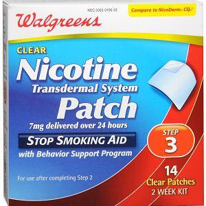 Walgreens Nicotine Patches Step 3
