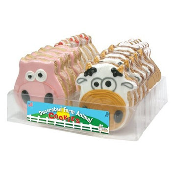 The Wild Baker Wild Baker Farm Animal Decorated Cookies Tray (24 Cookies)