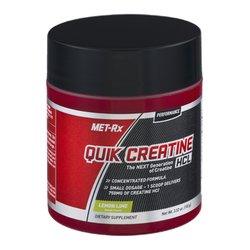 Met-Rx Quik Creatine HCL Dietary Supplement Lemon Lime