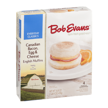 Bob Evans Everyday Classics English Muffins Canadian Bacon, Egg & Cheese - 4 CT
