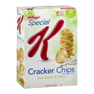 Special K® Kellogg Sour Cream & Onion Cracker Chips