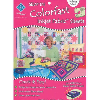 June Tailor JT900 Colorfast Sew-In Inkjet Fabric Sheets