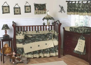 Sweet Jojo Designs Camo Green Collection 9pc Crib Bedding Set