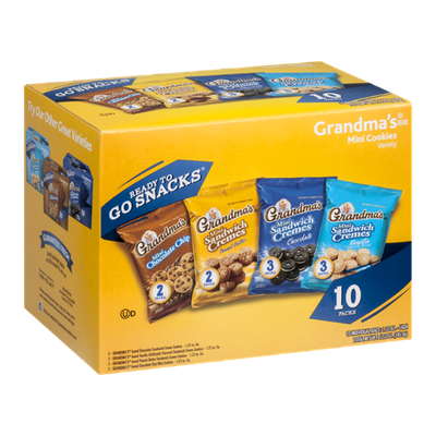 Grandma's Mini Cookies Variety Bags - 10 CT