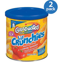 Gerber Graduates Lil' Crunchies Zesty Tomato Baked Corn Snack 1.48 oz (Pack of 2)