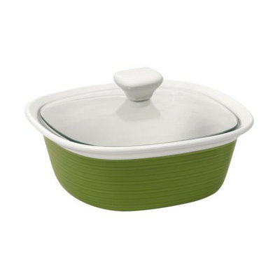 CorningWare Etch 1.5 qt Green Casserole