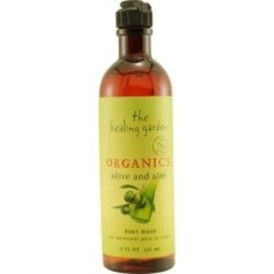 Coty Healing Garden Organics Body Wash, Olive & Aloe - 8 Oz / Bottle, 1 ea