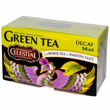 Celestial Seasonings Green Tea Caffeine Free Mint 20 Tea Bags Case of 6