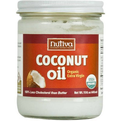 Nutiva Organic Extra Virgin Coconut Oil, 15 fl oz, (Pack of 2)