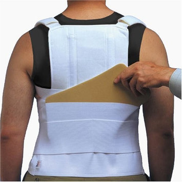ITA-MED TLSO (Thoracic Lumbo Sacral Orthosis) with back pocket, Strong Support,Adult, Size: XXL