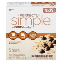 ZonePerfect Perfectly Simple Chocolate Chip Oatmeal Nutrition Bars -
