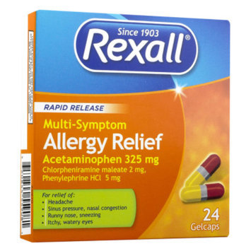 Rexall Rapid Release Multi-Symptom Allergy Relief, 24 CT