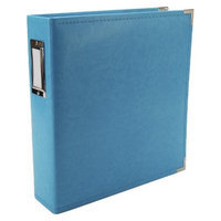 We R Memory Keepers We R Faux Leather 3 Ring Binder - Aqua Blue (8.5